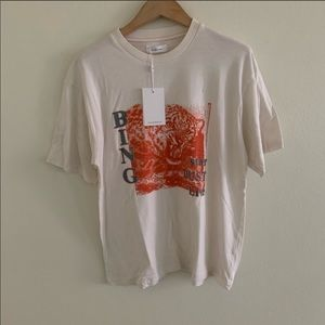 ANINE BING white star dust tee